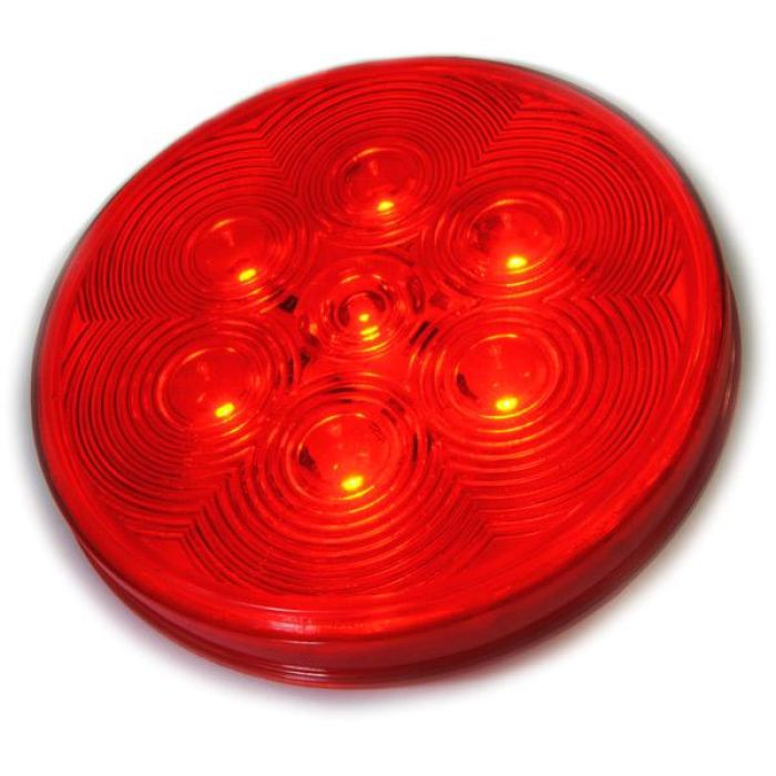 4 Round Led Stop/tail/turn W/ Grommet And Pigtail 7 Diodes Amber Or Red - Transportation Safety