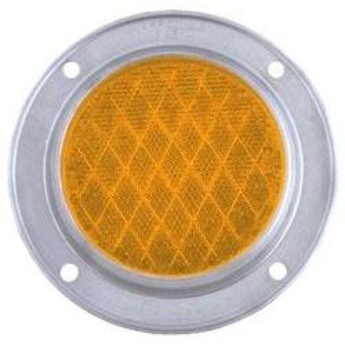 5 Round Reflector - Aluminum Housing - Amber Or Red - Transportation Safety