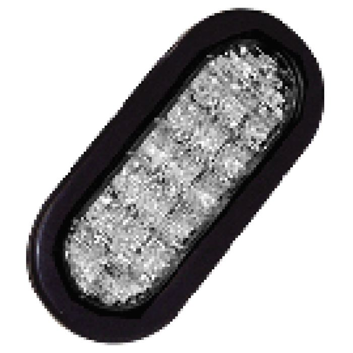 6 Oval Led Strobe - More Colors - Clear - Transportation Safety