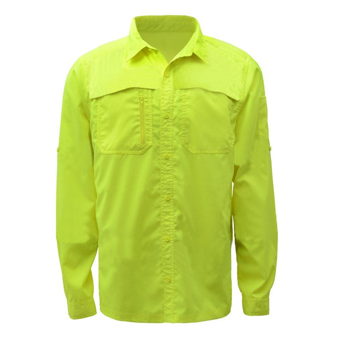 GSS Non-ANSI New Designed Lightweight Rip Stop Bottom Down Shirt W/ SPF 50+