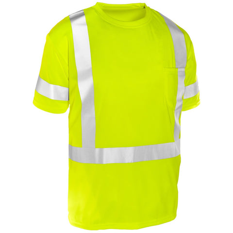 ML KISHIGO Economy Class 3 Short Sleeve T-Shirt, Lime