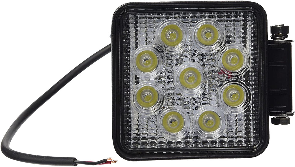 Work Lamp, 9 LED, Square, Flood, 10-30V