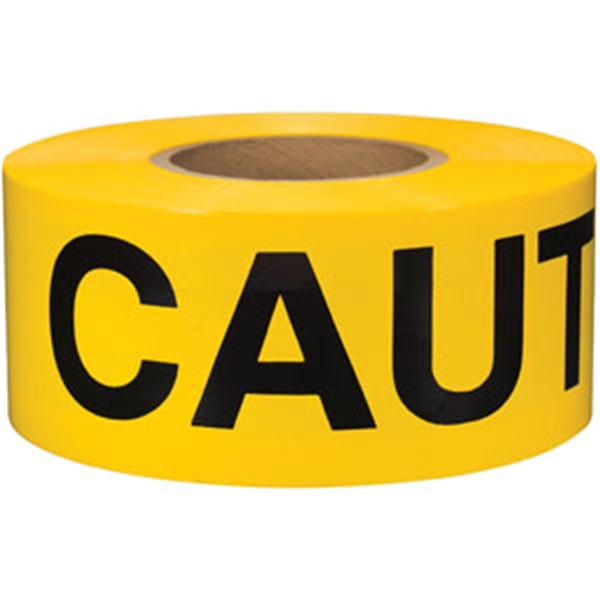 PRESCO Barricade Tape, 2.5 mil, CAUTION DO NOT ENTER Yellow