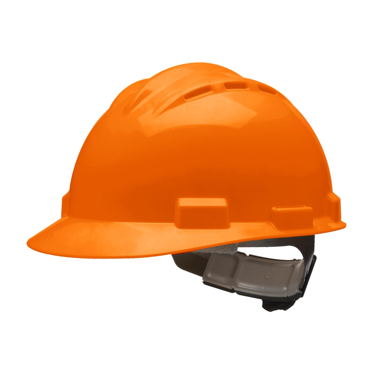 BULLARD Standard Vented Hard Hat - Ratchet Suspension - Orange