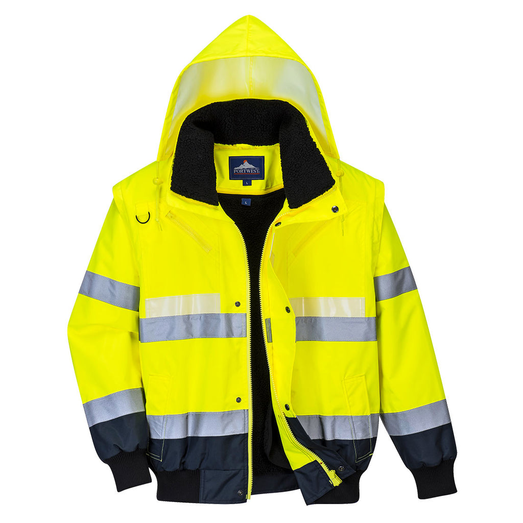 PORTWEST Glowtex 3-in-1 Bomber Jacket