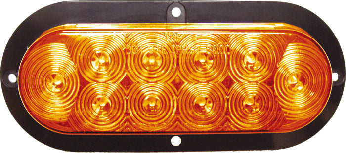 "Sealed 6"" Oval LED 10-Diode Flange Mount Backup Lamp"