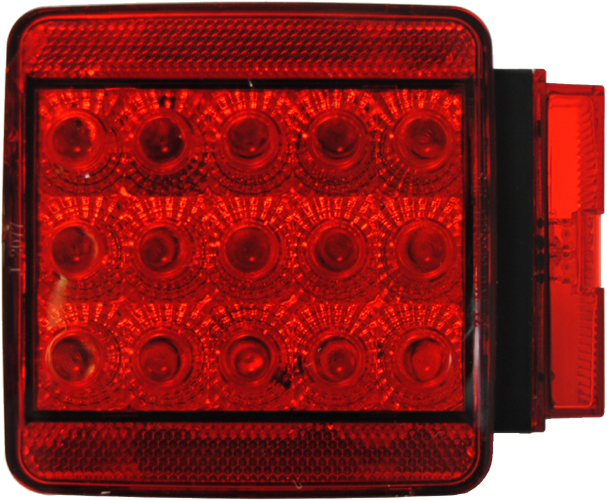 Square Trailer Stop/Turn/Tail LED Light