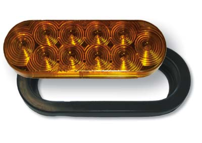 "6"" Oval LED Front park & turn lamp kit"