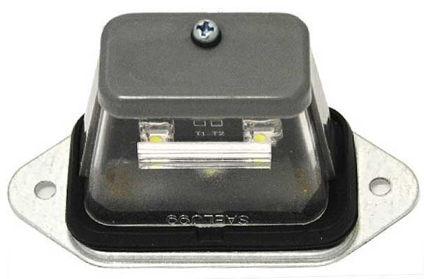 LED License Plate Lamp, Gray Housing