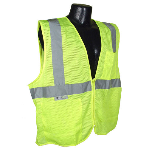 Radians SV2Z Economy Type R Class 2 Mesh Safety Vest with Zipper