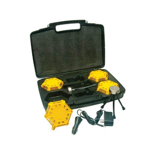 Super Road Flare Kit with Amber LEDs (4-pack)