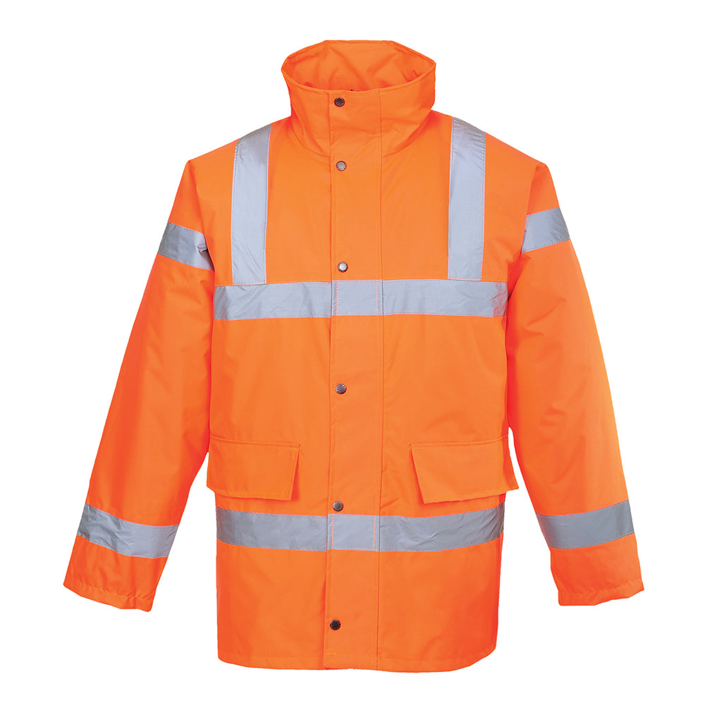 PORTWEST Hi-Vis Traffic Jacket Orange