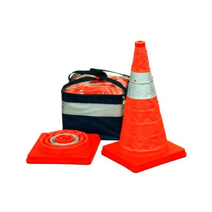 Aervoe 28 Traffic Safety Cone - Collapsible With Red Led Light - 5-Pack Kit - Highway