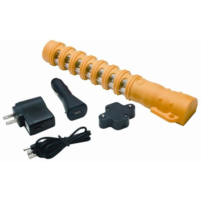 Aervoe Led Baton Road Flare W/ Flashlight - Yellow Leds - Public Safety