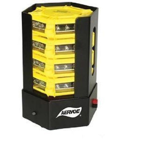 Aervoe Universal Led Rechargeable Road Flare Kit - 4-Pack Stacking Charger - Yellow W/ Amber Leds - Public Safety