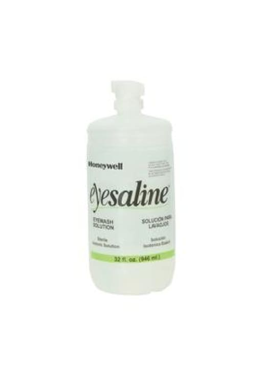 Airgas Honeywell 32 Ounce Bottle Eye Saline® Personal Eye Wash Solution - Public Safety