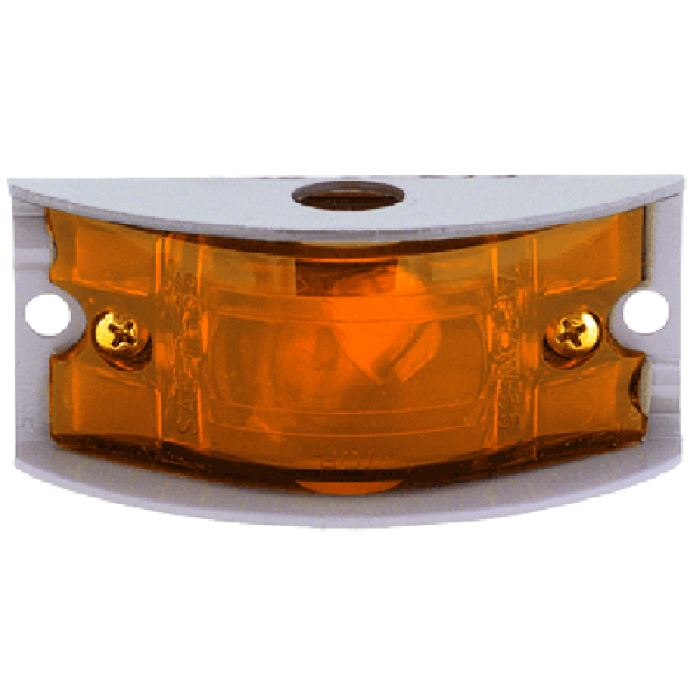 Aluminum Surface-Mounted Armored Marker Light - Amber Or Red Lens - Transportation Safety
