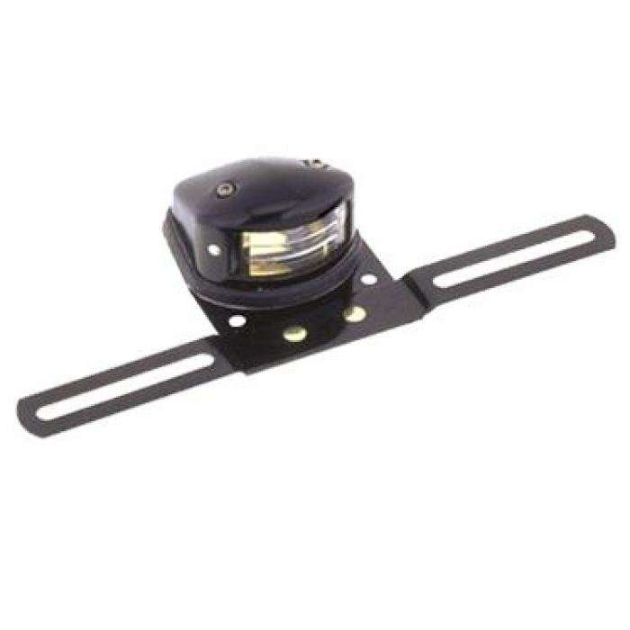 Armored Led License Plate Light With Bracket: Black - Transportation Safety