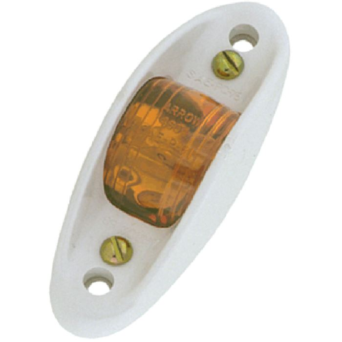 Armored Marker Light - Plastic - Amber Or Red - Transportation Safety