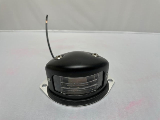 Armored License Plate Light, Surface Mount, Steel Body, Black finish