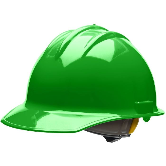 Bullard C30 Classic Series Hard Hats W/ Ratchet Suspension - Hi-Viz Green - Highway Safety