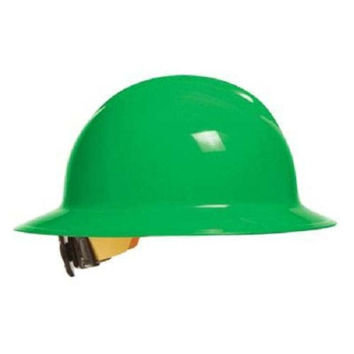 Bullard C33 Classic Full Brim Hard Hats W/ Ratchet Suspension - Hi-Viz Green - Highway Safety