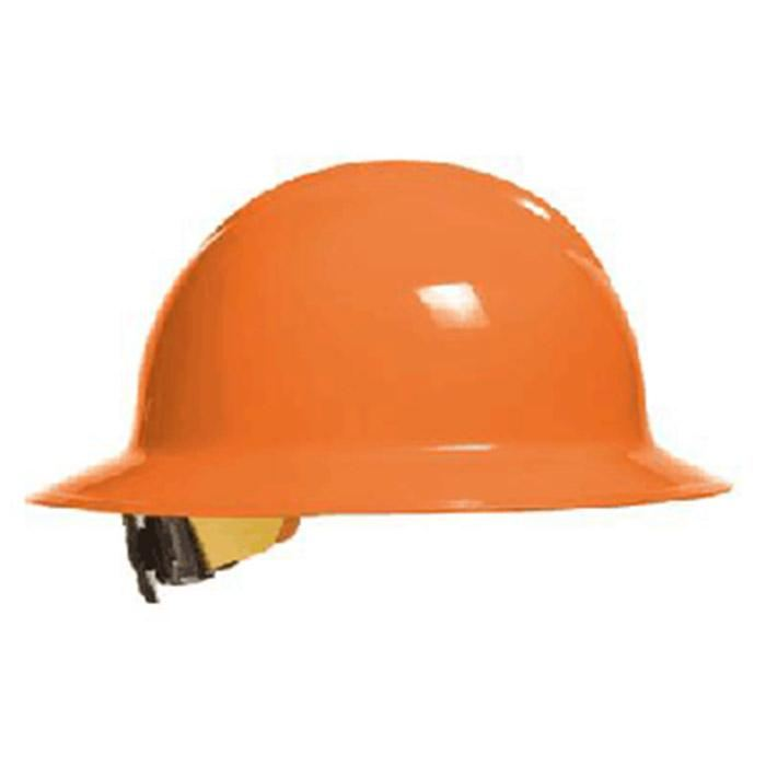 Bullard C33 Classic Full Brim Hard Hats W/ Ratchet Suspension - Hi-Viz Orange - Highway Safety