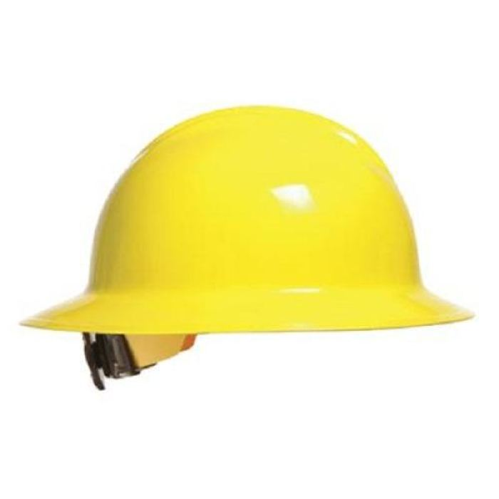 Bullard C33 Classic Full Brim Hard Hats W/ Ratchet Suspension - Hi-Viz Yellow - Highway Safety