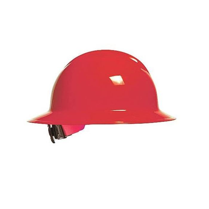 Bullard C33 Classic Full Brim Hard Hats W/ Ratchet Suspension - Red - Highway Safety