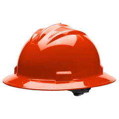 Bullard S71 Standard Full Brim Hard Hat - Ratchet Suspension - Hi-Viz Orange - Highway Safety