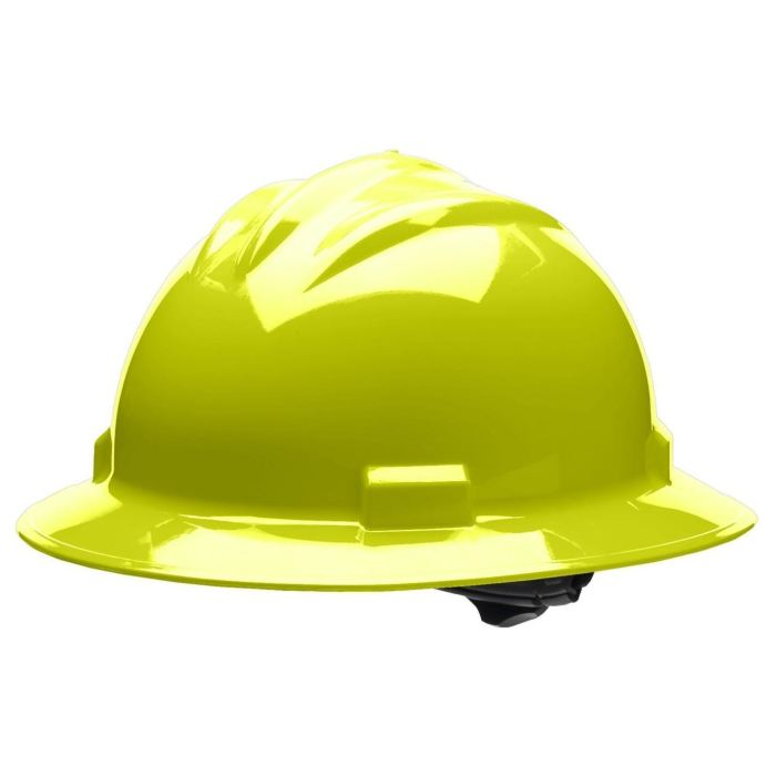 Bullard S71 Standard Full Brim Hard Hat - Ratchet Suspension - Hi-Viz Yellow - Highway Safety