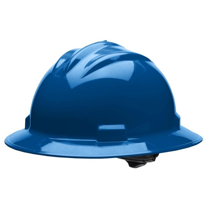 Bullard S71 Standard Full Brim Hard Hat - Ratchet Suspension - Kentucky Blue - Highway Safety