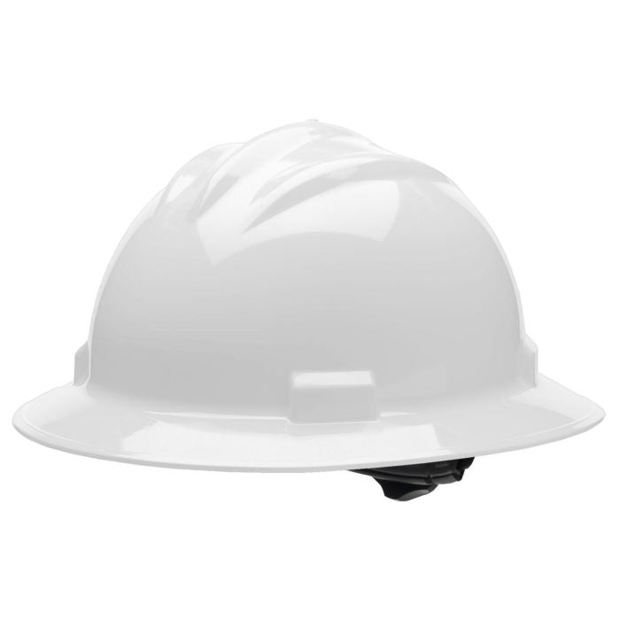 Bullard S71 Standard Full Brim Hard Hat - Ratchet Suspension - White - Highway Safety