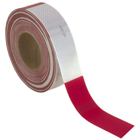 Conspicuity Tape 6 White/6 Red 150 X 2 7Year Warranty - Transportation Safety