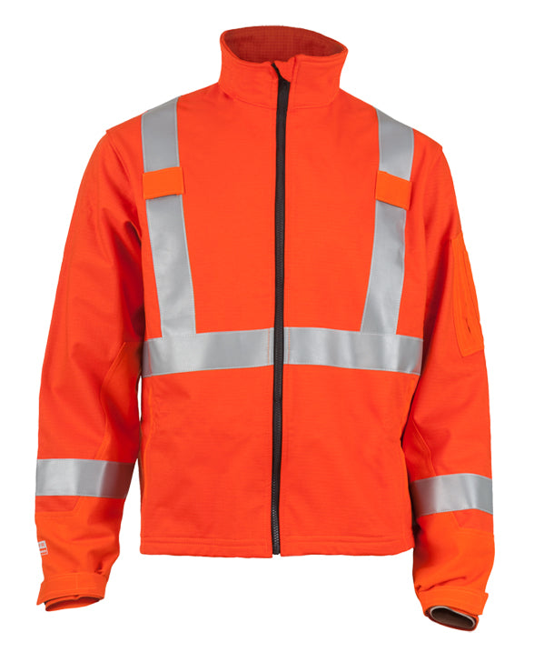 TRUE NORTH Dragon Shield™ FR Soft Shell HI-VIS Jacket