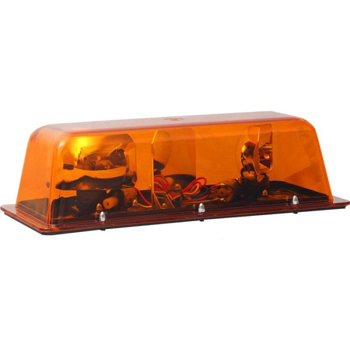 Double 360 Degree Rotary Warning Bar - Magnetic - More Colors - Amber - Transportation Safety