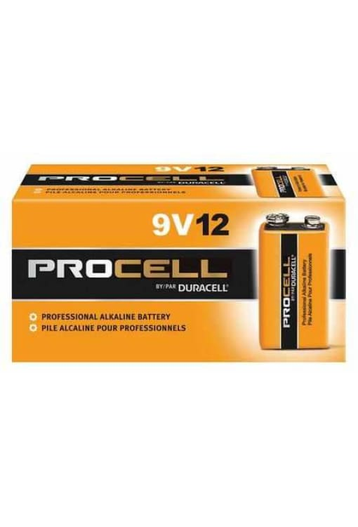 Duracell Procell 9V Alkaline Battery - 12Pk - Public Safety