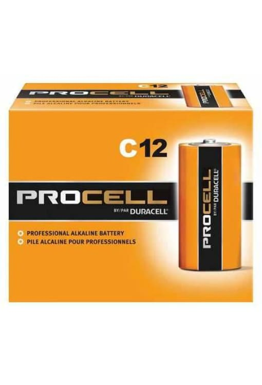 Duracell Procell C Alkaline Battery - 12Pk - Public Safety