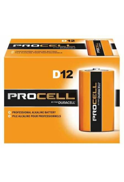 Duracell Procell D Alkaline Battery - 12Pk - Public Safety