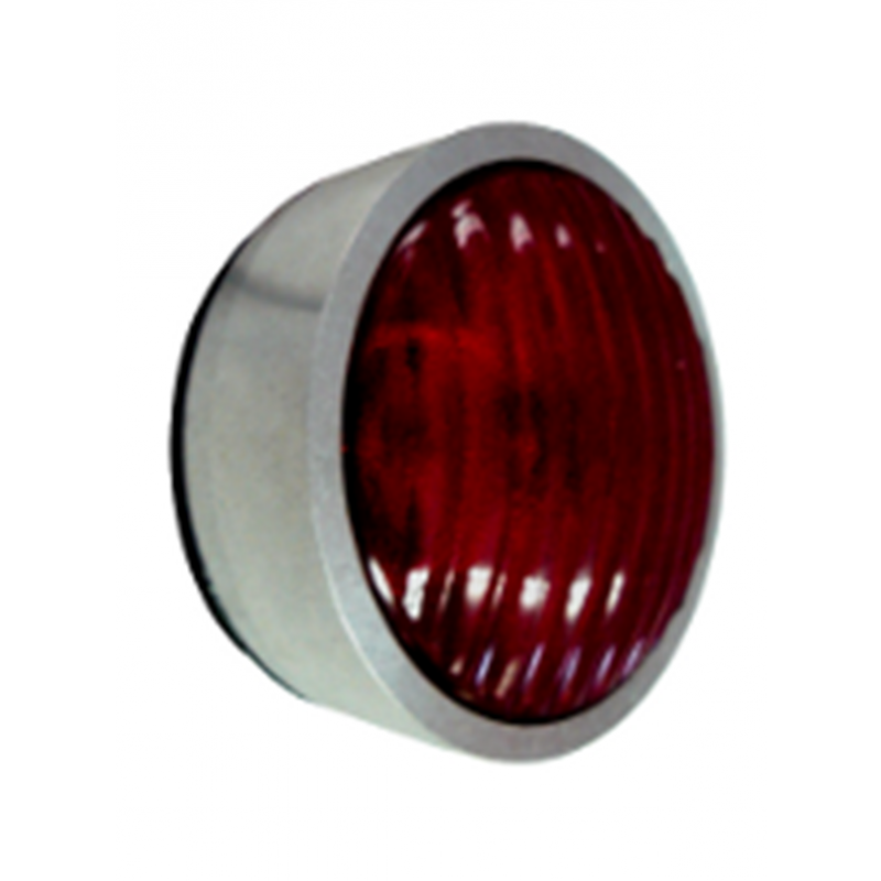 LED Emergency Exit Light - Anodized Aluminum - Red