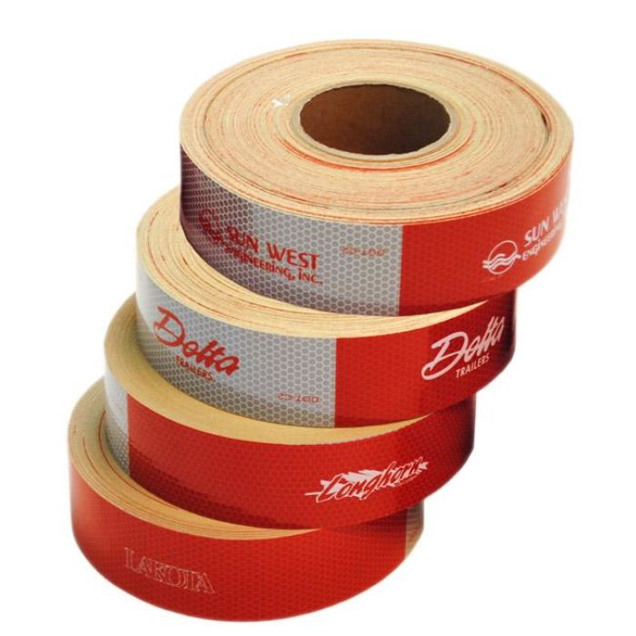 Glass Bead-Style Conspicuity Tape 11 Red / 7 White 150 X 2 Year Warranty - Transportation Safety