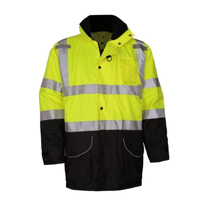 Gss Class 3 7-In-1 3M Scotchlitetm Waterproof All Seasons Jacket - Lime / Regular / Medium - Highway Safety