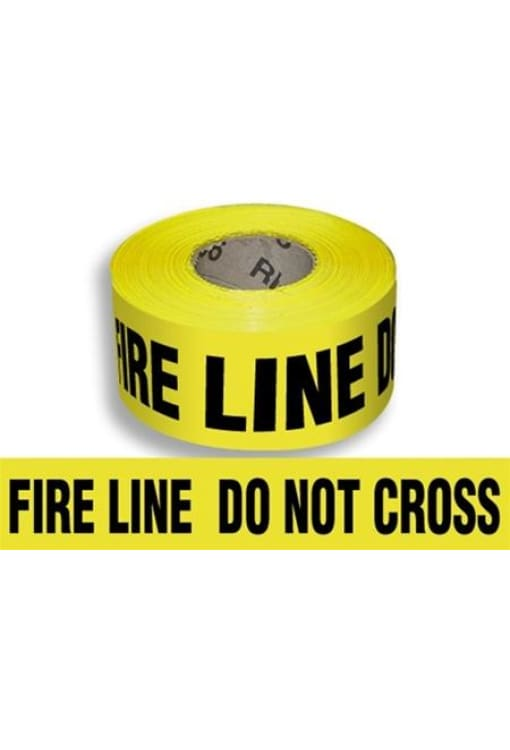 Harris Tape Yellow Barrier Fire Line Do Not Cross Tape 3X1000X3Mm - Public Safety