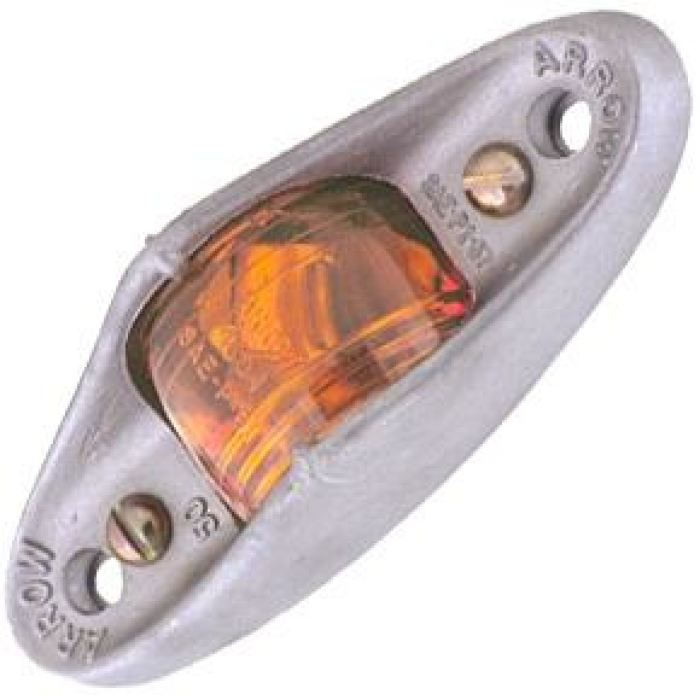 Heavy-Duty Led Armored Marker Light - Surface Mount - Amber Or Red - Transportation Safety
