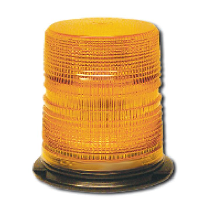 High-Profile (6-11/16H) Warning Light - Quad Flash W/ Twist -On Lens - Choose From 4 Colors - Transportation Safety