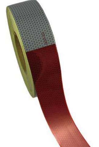Kiss Cut Conspicuity Tape 11 Red / 7 White 150 X 2 7 Year Warranty - Transportation Safety
