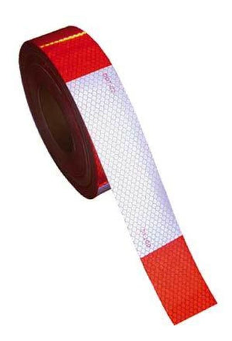 Kiss Cut Conspicuity Tape 6 Red / 6 White 150 X 2 7 Year Warranty - Transportation Safety