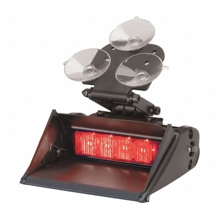 Led Auxiliary/warning Light - Quad Lighthead - Red/red - Transportation Safety