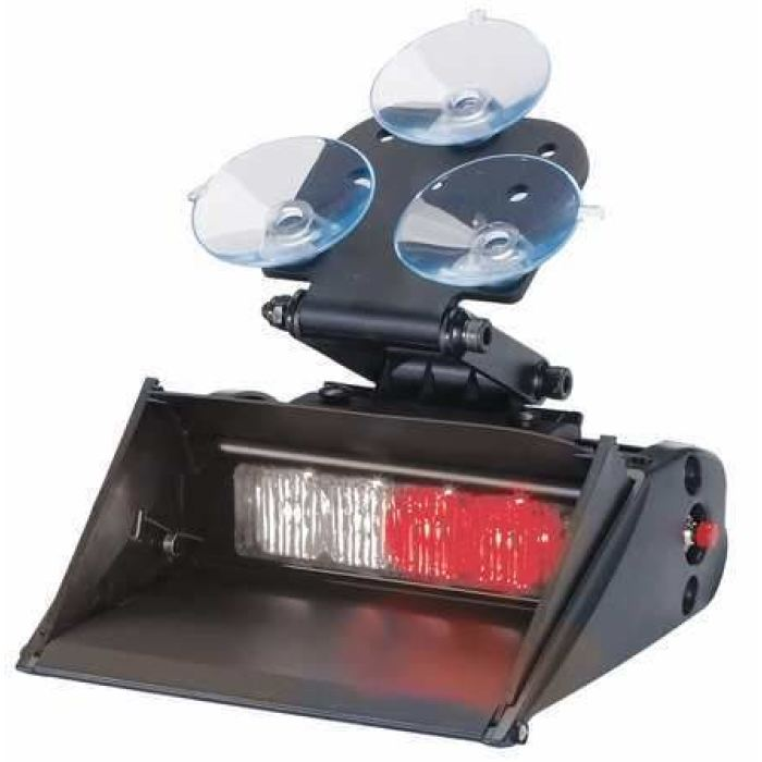 Led Auxiliary/warning Light - Quad Lighthead - Red/white - Transportation Safety
