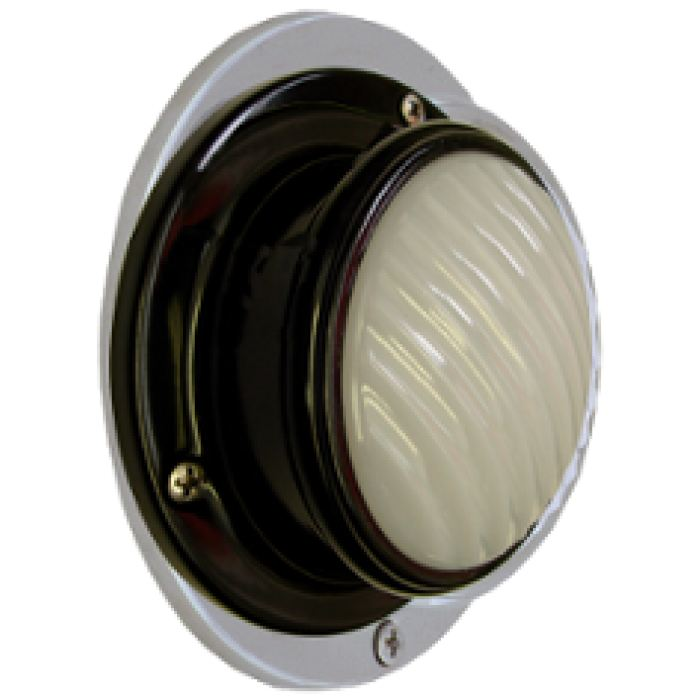 Led Dome Light: Black: Surface Mount: Moonstone Lens - Transportation Safety